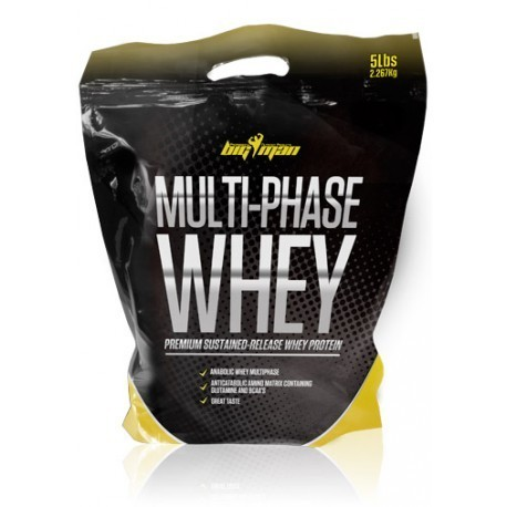 Proteinas Big Man Multi Phase Whey 2268gr.