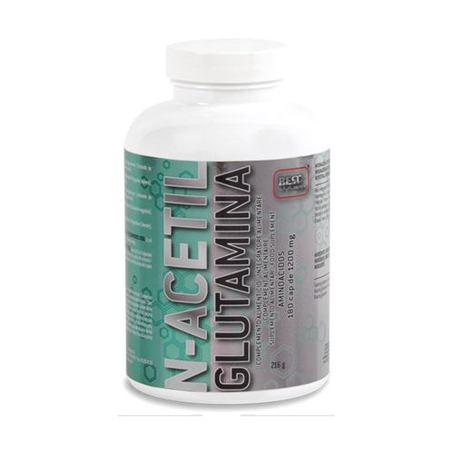 L-Glutamina Best Protein N-Acetil Glutamina 180caps.