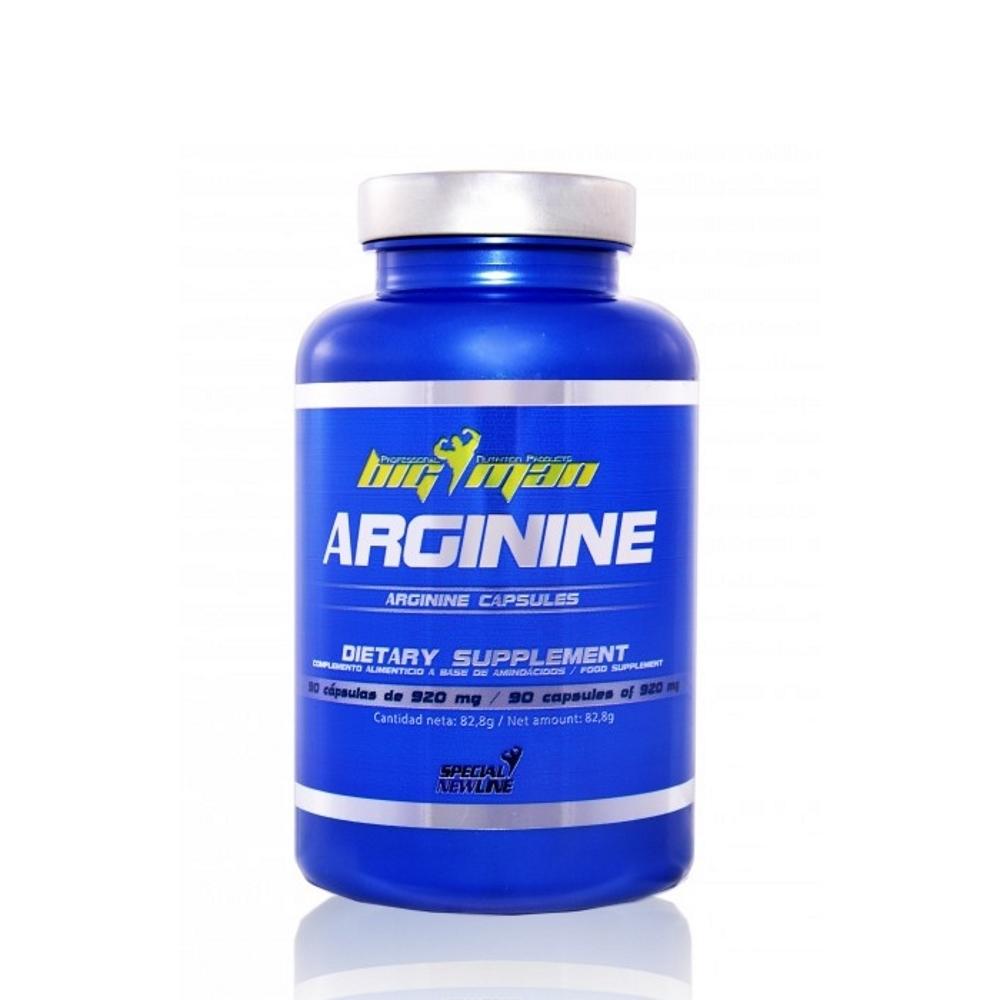 Arginina 90 caps. Big Man | Suplementos Big Man Nutrition