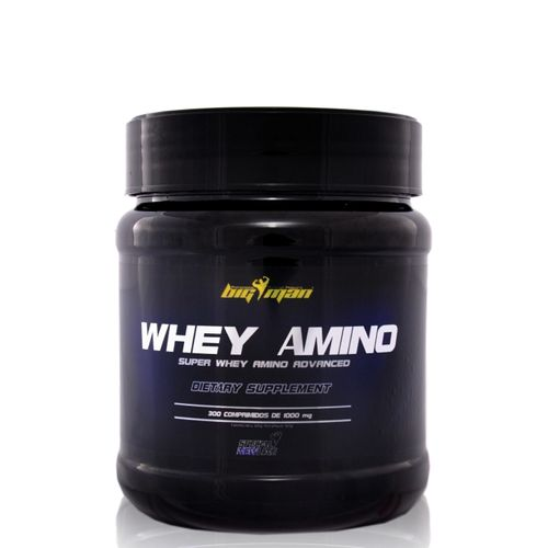 Aminoacidos Big Man Whey Amino 300 comp