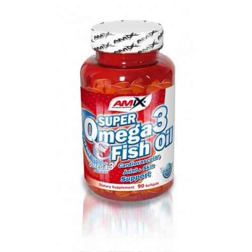 Acidos Grasos Amix Super Omega 3 Fish Oil 90caps.