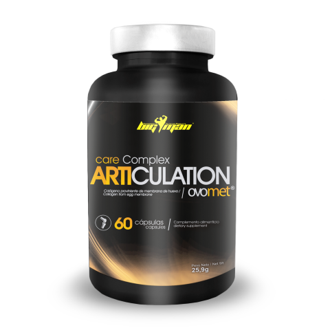 Tendones Y Articulaciones Big Man Nutrition Care Complex Articulation Ovomet 60 caps.