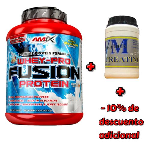Proteins - Wheypro Fusion® (2.3kg.) +Creatine 500gr VM Products + 10%% discount